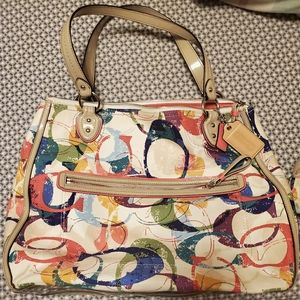 Coach bag with matching wristlet